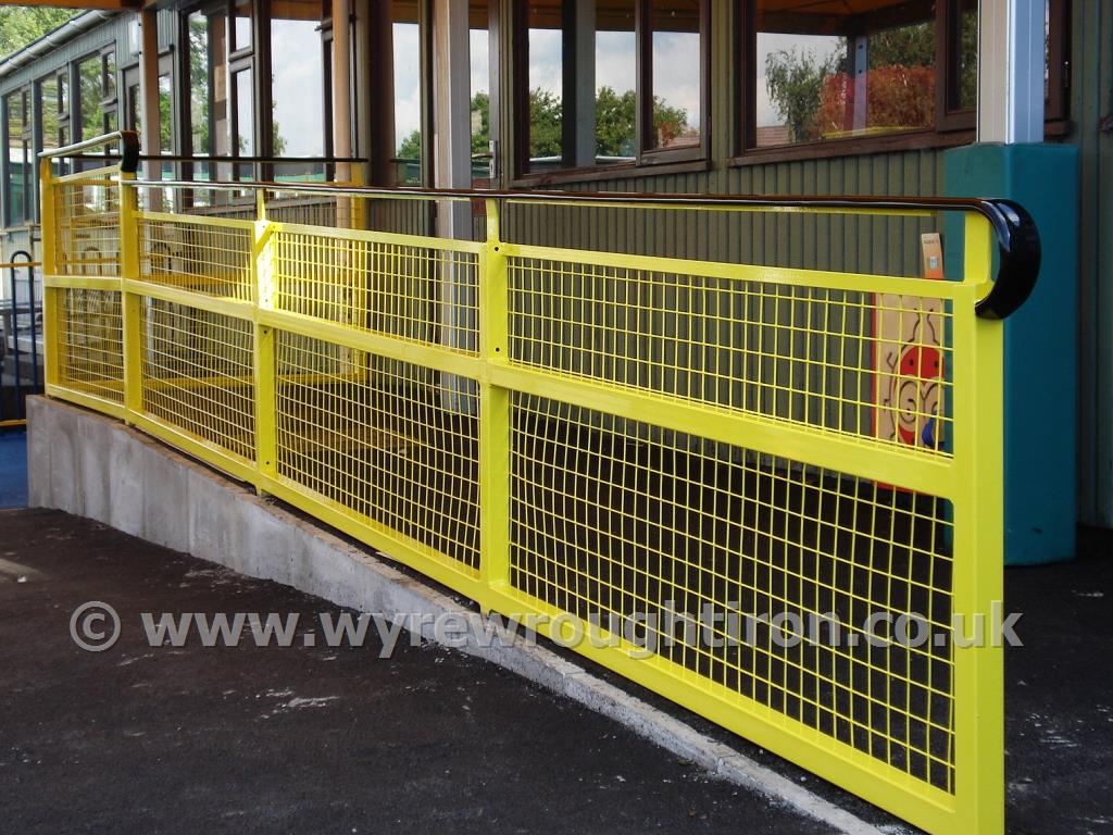 Photo - Safety handrails created for Weeton school, featuring handrail capping for safety and comfort