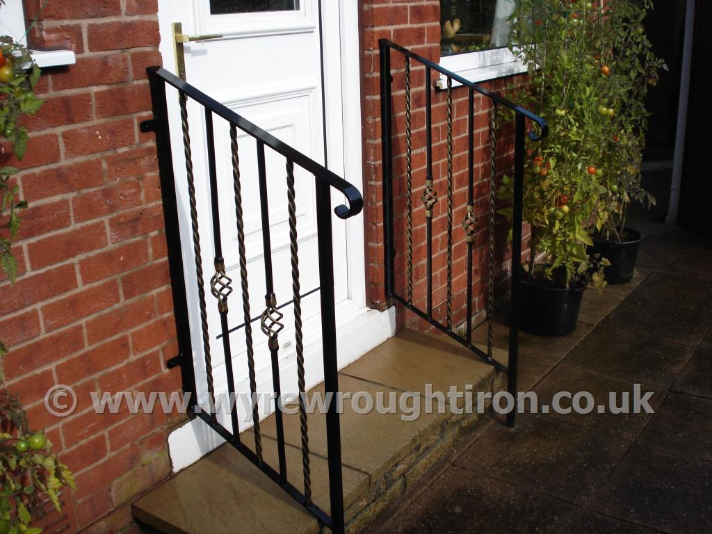 Photo - Powder-coated ornate handrails created for a customer in Normoss, Blackpool