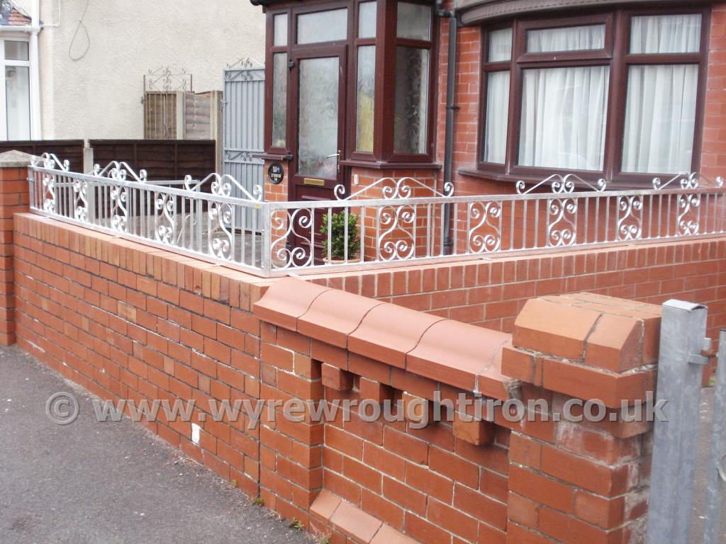 Kent design railings with top scrolls and galvanised finish, fitted at a Cleveleys household.